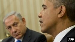 Президент США Барак Обама (праворуч) і прем'єр-міністр Ізраїлю Біньямін Нетаньягу