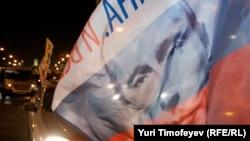 На акции в поддержку Владимира Путина.