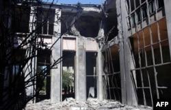 Пошкоджена будівля парламенту Туреччини в Анкарі. 16 липня 2016 року