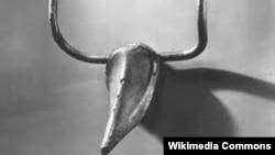 """Скульптура Пикассо """"Голова быка"""", сделанная из велосипедных частей"""