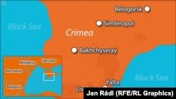 O hartă a Crimeei