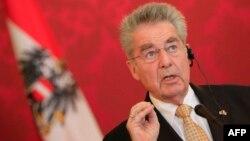 Австрия президенті Хайнц Фишер. Вена, 27 наурыз 2014 жыл.