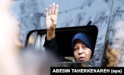 Faezeh Hashemi Rafsanjani is the daughter of the late Iranian President Akbar Hashemi Rafsanjani. (file photo)