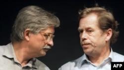 Вацлав Гавел и Йиржи Динстбир