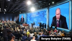 When everything's been said: In a nearly four-hour press conference, Putin covered little new ground.