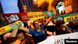 شادی هواداران حزب دموکراتيک خلقها (HDP)