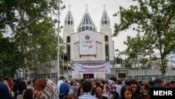تظاهرات ارامنه در تهران