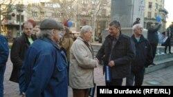 Direktor programa N1 Jugoslav Ćosić na protestu u Beogradu