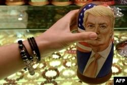 Матрешка Трампа в Москве, 8 ноября 2016