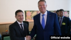 Președinte României, Klaus Iohannis, și președintele ucrainean Volodimir Zelenski. New York, 26 septembrie 2019