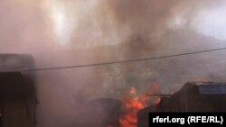 Afghanistan - A Market get fire Kabul city, 18 Sep 2016 آتش سوزی در یک مارکیت تخته فروشی در کابل