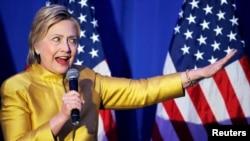 Hillary Clinton gjatë një fjalimi