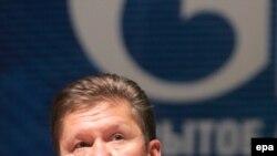 """""""Газпромдун"""" жетекчиси А.Миллер Москвада акционерлердин жылдык жолугушуусунда сүйлөп жатат"""