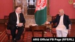 Майк Помпео и Ашраф Гани, Кабул, 23 марта 2020 года.