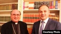 Slloveni - Ministri i Punëve të Jashtme të Kosovës Enver Hoxhaj takon Apostulin e Vatikanit për Kosovën Julisz Janusz, 26Qershor2013
