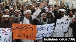 Антиамериканская демонстрация в Пакистане.