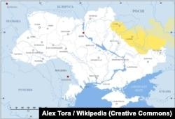 Розташування Слобідської України