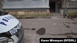 Պարույր Հայրիկյանի նկատմամբ մահափորձի վայրը Երեւանի Տպագրիչների փողոցում, 1-ը փետրվարի, 2013թ.