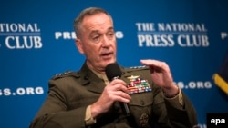 Joint Chiefs of Staff Chairman General Joseph Dunford speaks at the National Press Club in Washington, June 19, 2017