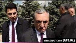 Министр иностранных дел Армении Зограб Мнацаканян, Ереван, 24 апреля 2019 г.