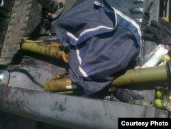 Зброя у авто, покинутих після стрілянини поблизу Мукачева, 11 липня 2015 року