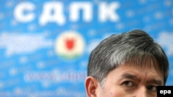 Almazbek Atambaev, leader of Kyrgyzstan's Social Democrats, in mid-December