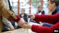 La un centru de votare în Macedonia de Nord