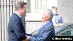 Президент Казахстана Нурсултан Назарбаев с премьер-министром Великобритании Дэвидом Кэмероном (слева). Лондон, 21 июля 2013 года.