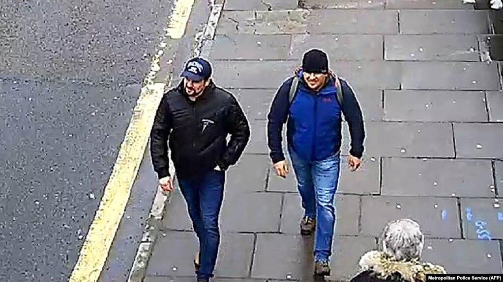 Александр Петров и Руслан Боширов, причастные, по утверждению британских властей, к отравлению Скрипалей