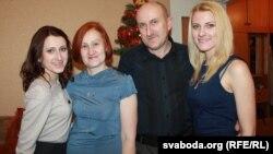 Дачка Даша, Валянціна Ляшук, муж Віктар і дачка Яна