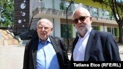 arhitecul Ludwig Rongen (dreapta) și inginerul Gunter Schlagowski