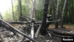 سقوط یک هلیکوپتر نظامیدر اوکراین Source: Reuters