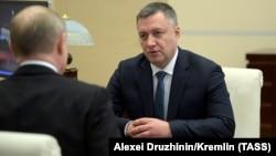 Игорь Кобзев на встрече с Владимиром Путиным, 12 декабря 2019 г.