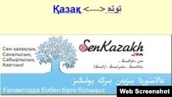 Қытайдағы senkazakh.com сайтының беті.