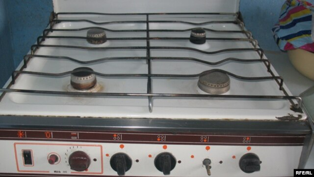 Back to normal? A gas stovetop in Dushanbe