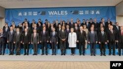 Керівники країн НАТО на спільному фото під час саміту, 4 вересня 2014 року