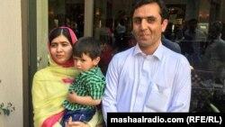 Малала Юсафзай з родичами, 30 березня 2018 року