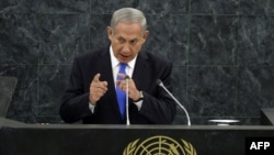 Біньямін Нетаньягу виступає на сесії Генеральної асамблеї ООН, 1 жовтня 2013 року