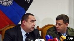 Лідери угруповань «ЛНР» Ігор Плотницький (Л) і «ДНР» Олександр Захарченко