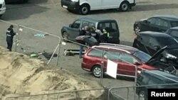 На месте инцидента в Антверпене. 23 марта 2017 года.