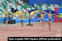 Перемога збірної України на естафеті 800 м – 600 м – 400 м – 200 м