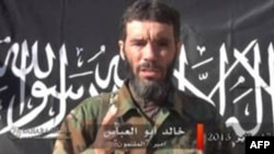 A video grab shows Mokhtar Belmokhtar.