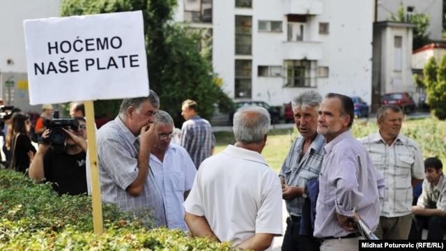 Jedan od protesta radnika u BiH