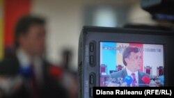 Preşedintele CEC, Iurie Ciocan, face publice rezultatele preliminare ale scrutinului local