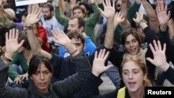Pamje nga një protestë e mëparshme në Madrid