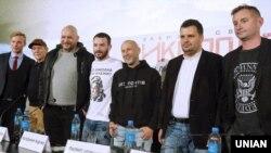 Пресс-конференция съемочной группы фильма «Дикое Поле» в кинотеатре Cinema Сити в Киеве, 6 ноября 2018 года