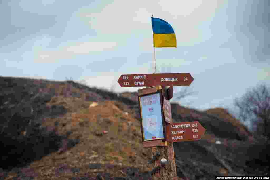 Чтобы знать, насколько вы далеко от дома, находясь на военной базе в Краматорске.