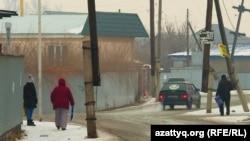 Улица в микрорайоне Нуршашкан в Алматы. 9 января 2019 года.