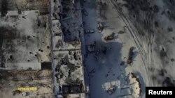 Аэрофотосъемка руин Донецкого аэропорта