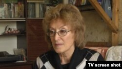 A friend of Oswald during his time in Minsk, Inna Markava, shown here in this screen grab on October 29, 2013.